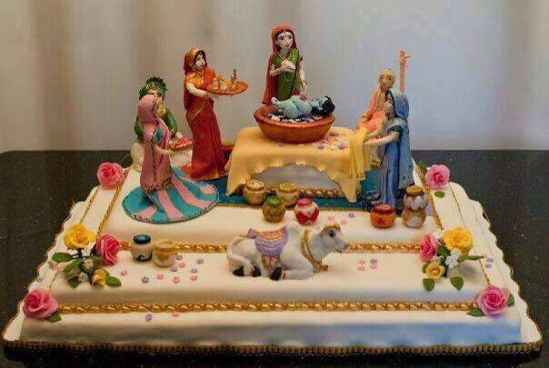 Shri-Krishna-Janmashtami cake